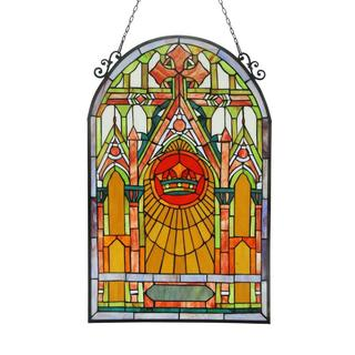 Tiffany Style Cathedral Design Stained Glass Panel