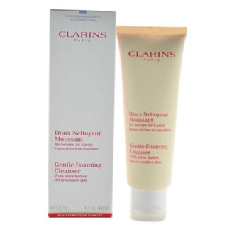 Clarins Gentle Foaming 4.4-ounce Cleanser with Shea Butter for Dry or Sensitive Skin