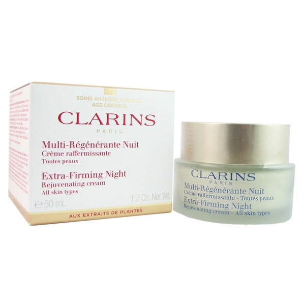 Clarins Extra-Firming Night Rejuvenating 1.7-ounce Cream for All Skin Types