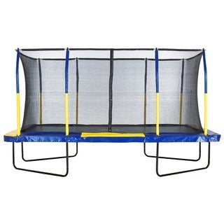 Upper Bounce Easy Assemble 9 x 15 Rectangular Trampoline with Enclosure