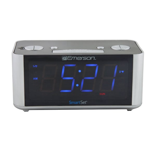 Emerson CKS1708 SmartSet LED Radio Alarm Clock