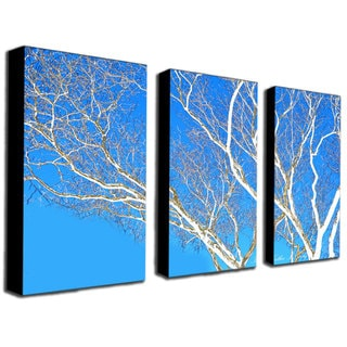 Kathie McCurdy 'Spring Tree' 3-piece Canvas Art