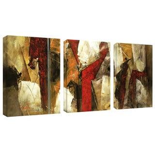 Lopez 'Abstract IX' 3 Piece Canvas Art