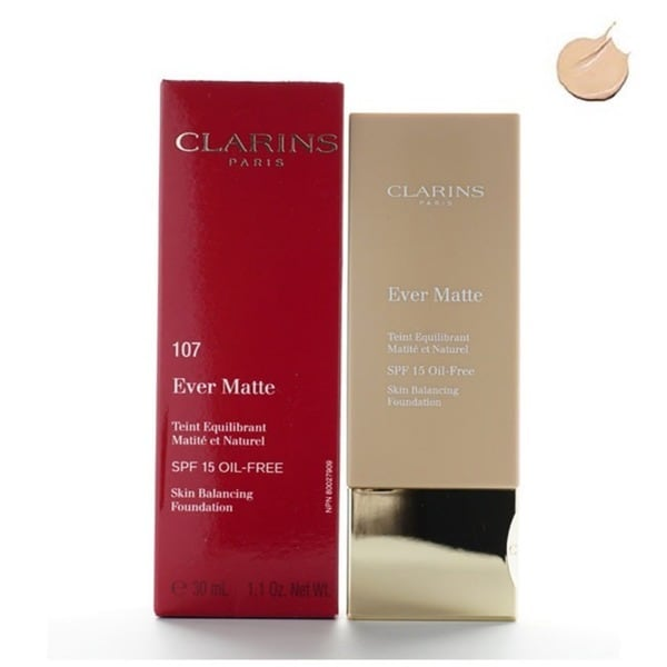 Clarins Ever Matte Skin Balancing Oil-free Beige Foundation