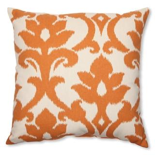 Pillow Perfect 'Azzure Tangerine' 18-inch Throw Pillow