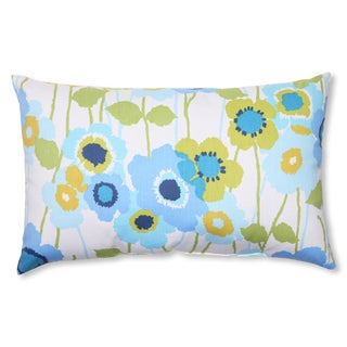Pillow Perfect 'Pic-A-Poppy' Blue Rectangular Throw Pillow