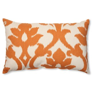 Pillow Perfect 'Azzure Tangerine' Rectangular Throw Pillow