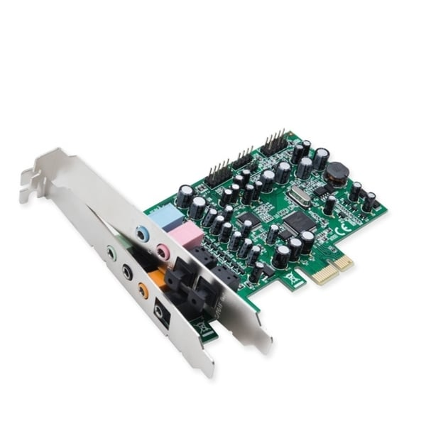 Syba PCIe 24-Bit 8-Channel Surround Sound Controller Card Analog Outputs