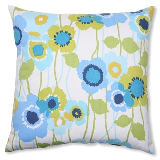 Pillow Perfect 'Pic-A-Poppy' Blue 16.5-inch Throw Pillow