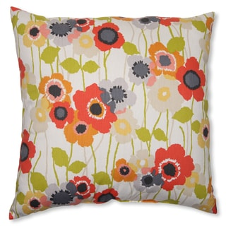 Pillow Perfect 'Pic-A-Poppy' Red 23-inch Throw Pillow