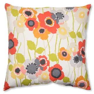 Pillow Perfect 'Pic-A-Poppy' Red 18-inch Throw Pillow