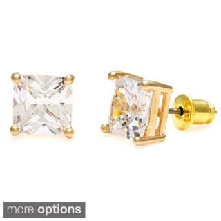 Simon Frank 8x8 mm Princess-cut Cubic Zirconia Stud Earrings