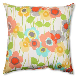 Pillow Perfect Pic-A-Poppy Seaglass 18-inch Throw Pillow