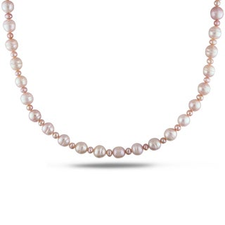 Miadora Pink Pearl Endless Necklace