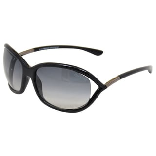 Tom Ford Women's Jennifer TF8 01B' Black/Grey Sunglasses