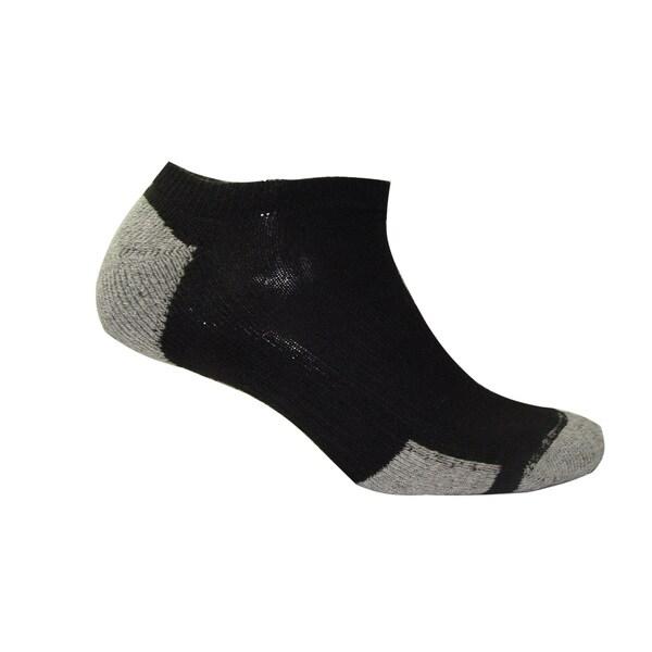 Hanes Men's Black Comfort Blend No-show Socks (Pack of 4)