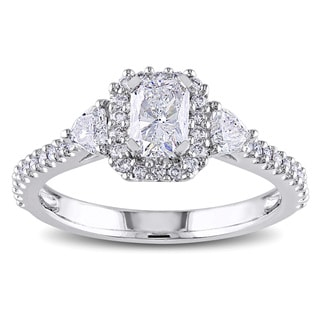 Miadora Signature Collection 14k Gold 1 1/5ct TDW Radiant Cut Diamond Ring (G-H, I1-I2)