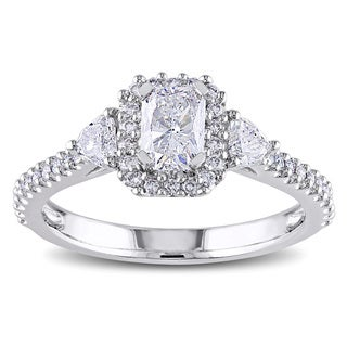 Miadora 14k Gold 1 1/5ct TDW Radiant Cut Diamond Engagement Ring (G-H, I1-I2)