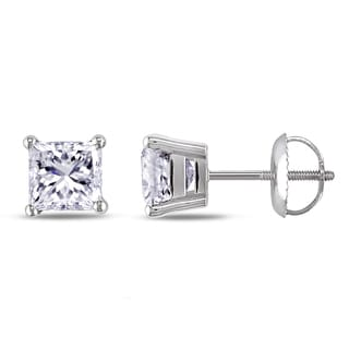 Miadora Signature Collection 14k White Gold 2ct TDW Diamond Solitaire Earrings (H-I, SI1-SI2)