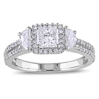 Miadora 14k White Gold 1 1/4ct TDW Fancy Cut Diamond Ring (G-H, I1-I2)