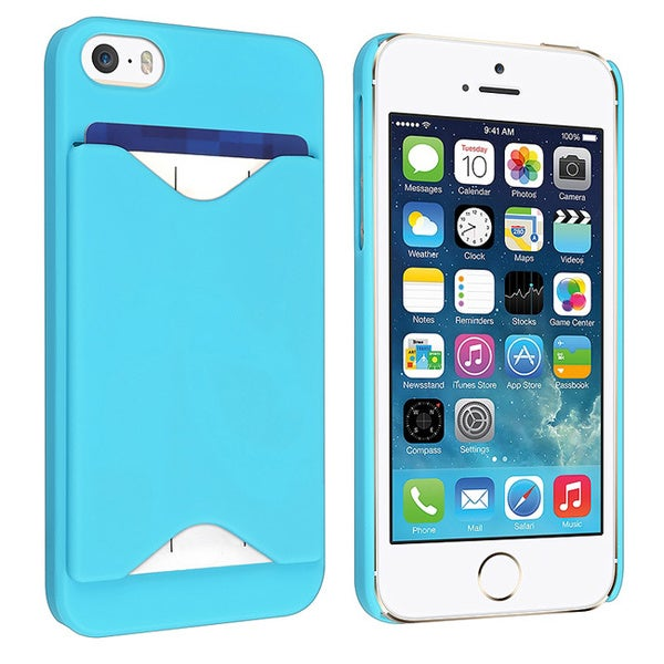 BasAcc Sky Blue Case with Card Holder for Apple® iPhone 5/ 5S