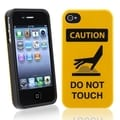 BasAcc Caution Do Not Touch TPU Rubber Case for Apple iPhone 4/ 4S
