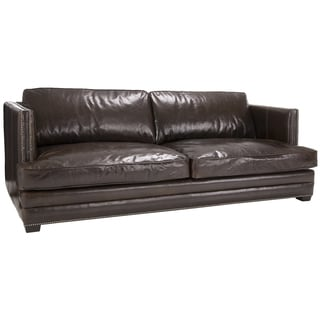 Jake Cocoa Brompton Brown Italian Leather Oversize Sofa