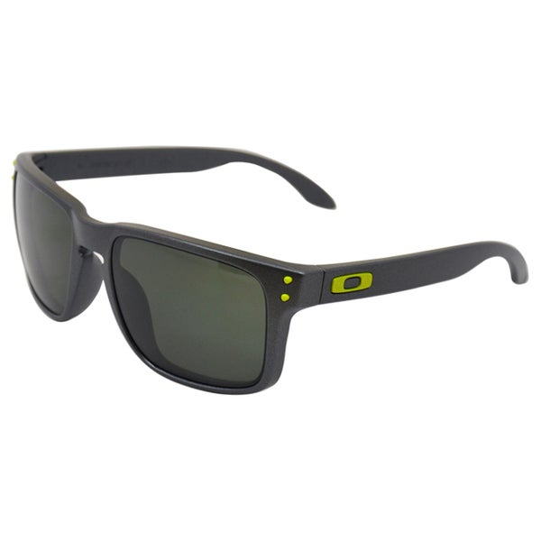 Oakley OO9102-38 Steel Frame Holbrook Dark Grey Lens Men's Sunglasses
