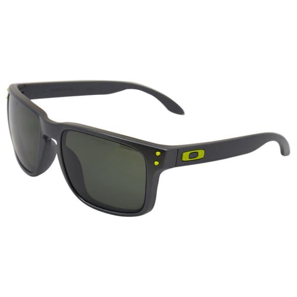 Oakley OO9102-38 Steel Frame Holbrook Dark Grey Lens Men's Sunglasses