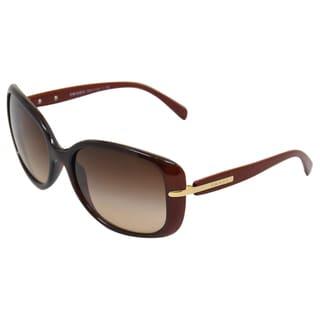 Prada Men's 'PR 08OS IAD6S1' Bordeaux/Red/Brown Sunglasses