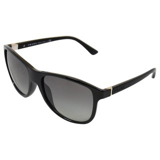 Prada Men's 'PR 06OS' Black/ Grey Gradient Casual Sunglasses