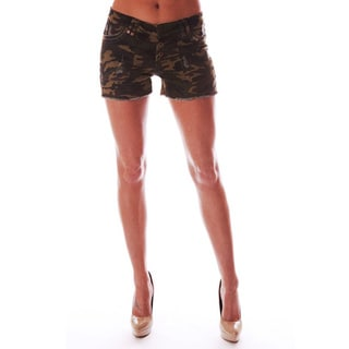 Reuse Denim Women's Camo Print Twill Shorts