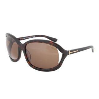 Tom Ford Women's 'FT0278/S Vivienne 52J' Dark Havana/Brown Sunglasses