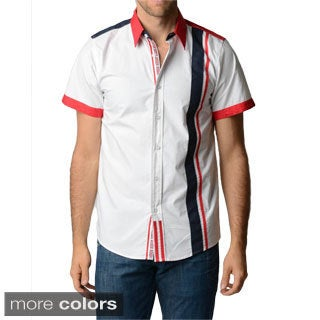 V.I.P. Collection Men's Slim Fit Colorblocked Shirt