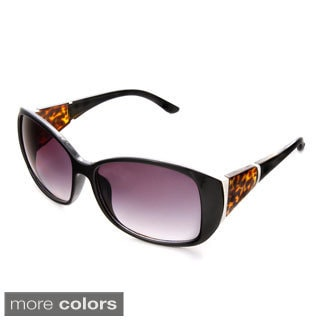 Hot Optix Women's Black Rectangular Sunglasses