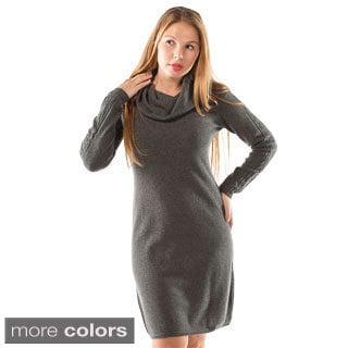 Italian Made Luigi Baldo Women's Italian Cashmere Sweater Dress