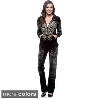 Tabeez Women's Wing Velour Track Suit