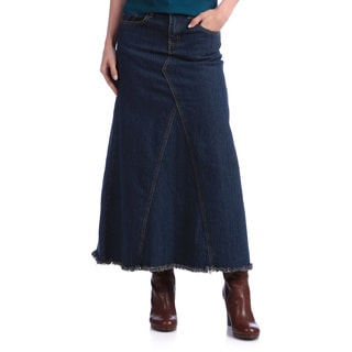 Tabeez Women's Vintage Long Denim Skirt
