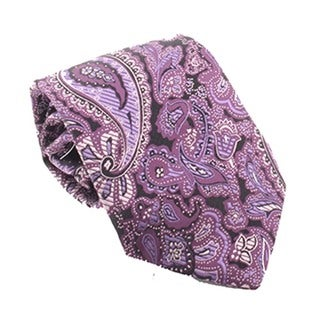 Ferrecci Men's Purple/ Black Necktie and Cuff Links Boxed Set