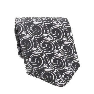Ferrecci Men's Black/ Grey Necktie and Cuff Links Boxed Set