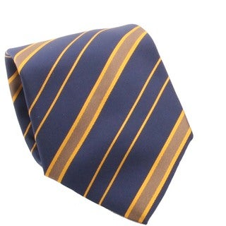 Ferrecci Men's Navy/ Orange Striped Necktie and Cuff Links Boxed Set
