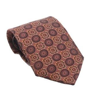 Ferrecci Men's Soft-Texture Brown Necktie-and-Cuff Links Boxed Set