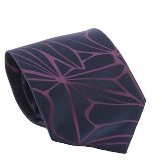 Ferrecci Men's Navy/ Dark Purple Necktie and Cuff Links Boxed Set