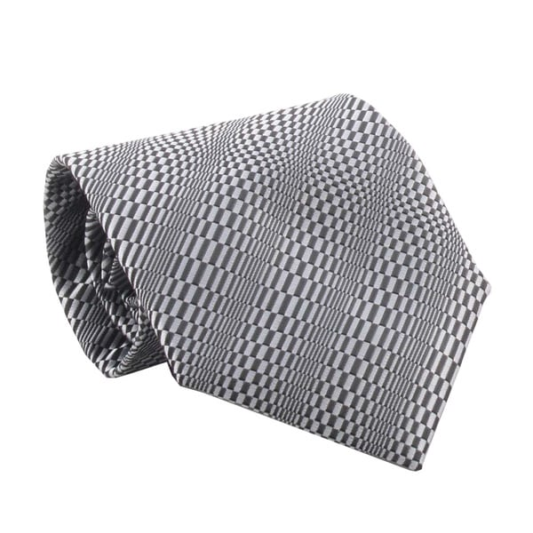 Ferrecci Men's Black/ Dark Grey Necktie and Cuff Links Boxed Set