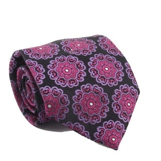 Ferrecci Men's Purple/ Fuchsia Necktie and Cuff Links Boxed Set