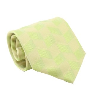 Ferrecci Men's Green Patterned Necktie and Cuff Links Boxed Set