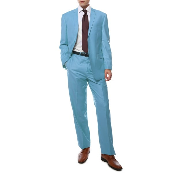 Ferrecci's Two Piece Two Buttom Sky Blue Suit