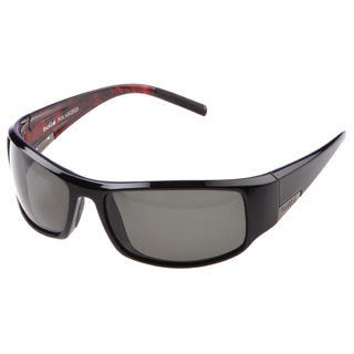 Bolle 'King' Black/ Red Marbled Polarized Sport Sunglasses