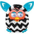 Furby Boom Black and White Zigzag Stripes