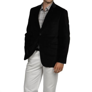 SB Adolfo Men's Black 2-button Velvet Sport Coat